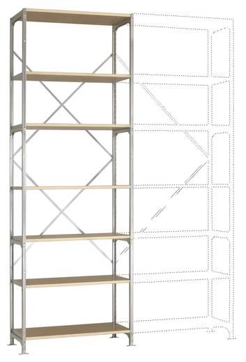 Fachbodenregal-Grundmodul (B x H x T) 970 x 3000 x 400 mm Stahl verzinkt Verzinkt Holzboden Manuflex RM4227