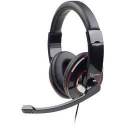 Headset k PC Gembird MHS-U-001 cez uši s USB káblový čierna