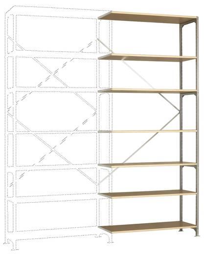 Fachbodenregal-Anbaumodul (B x H x T) 1220 x 3000 x 400 mm Stahl verzinkt Verzinkt Holzboden Manuflex RM2256