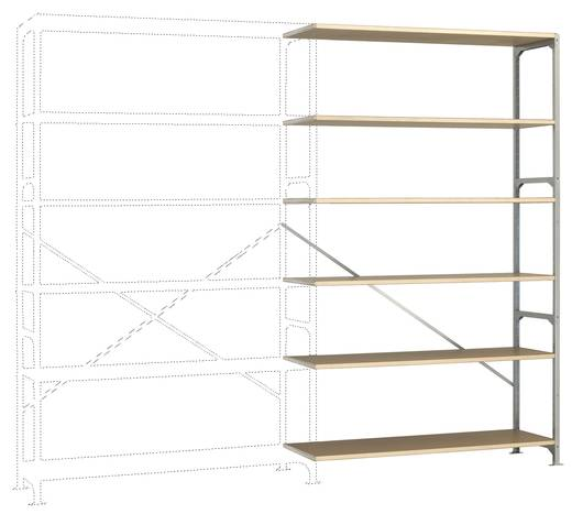 Fachbodenregal-Anbaumodul (B x H x T) 1470 x 2500 x 600 mm Stahl verzinkt Verzinkt Holzboden Manuflex RM2583