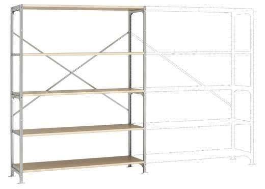 Fachbodenregal-Grundmodul (B x H x T) 1470 x 2000 x 400 mm Stahl verzinkt Verzinkt Holzboden Manuflex RM2501