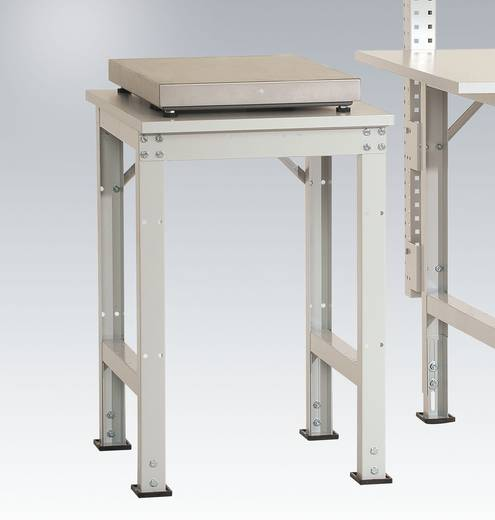 Manuflex AS1077.3003 Pack-Beistelltisch UNIVERSAL für Tischwaage 500x 600x 760-870 mm Platte Kunststoffbelag hellgrau 22