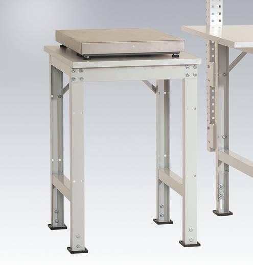 Manuflex AS1077.6011 Pack-Beistelltisch UNIVERSAL für Tischwaage 500x 600x 760-870 mm Platte Kunststoffbelag hellgrau 22