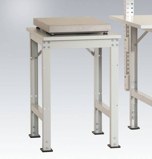 Manuflex AS1077.9006 Pack-Beistelltisch UNIVERSAL für Tischwaage 500x 600x 760-870 mm Platte Kunststoffbelag hellgrau 22