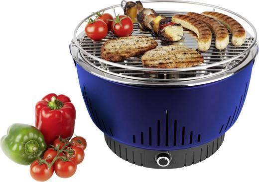 Holzkohle Grill Medion MD17700 mit aktiver Belüftung Grill-Fläche (Durchmesser)=320 mm Blau