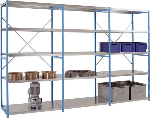 Fachbodenregal-Grundmodul (B x H x T) 970 x 2000 x 600 mm Stahl verzinkt Verzinkt Metallboden Manuflex RM2282