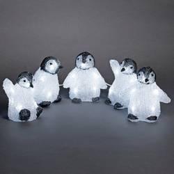 Image of Konstsmide 6266-203 Acryl-Figur Baby-Pinguin 5er Set Kaltweiß LED