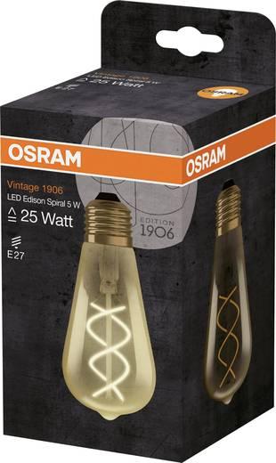 OSRAM LED EEK A (A++ - E) E27 Kolbenform 5.00 W = 25 W Warmweiß (Ø x L) 64 mm x 64 mm 1 St.