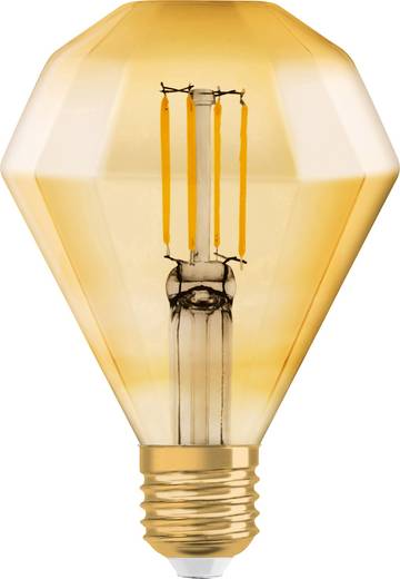 OSRAM LED EEK A+ (A++ - E) E27 Diamantform 4.50 W = 40 W Warmweiß (Ø x L) 110 mm x 140 mm Filament 1 St.