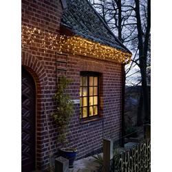 Vnitřní/venkovní světelný závěs - zmrzlé kapky Konstsmide 2772-802 400 x LED, 230 V/50 Hz, jantarová