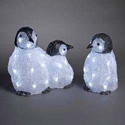 Image of Konstsmide 6270-203 Acryl-Figur Pinguin 3er Set Kaltweiß LED