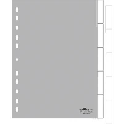 Durable Register 6440 DIN A4 1-5 Polypropylen Grau 5 Registerblätter umschweißte Taben, mi Preisvergleich