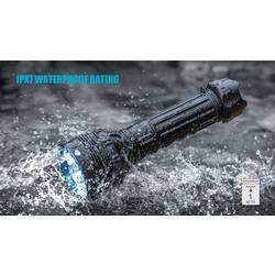LED vreckové svietidlo (baterka) OLight X9R Marauder X9R Marauder, 1855 g, napájanie z akumulátora, čierna, tyrkysová