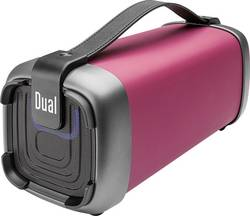 Image of Dual BT 10 Bluetooth® Lautsprecher AUX, FM Radio, SD, USB Rot