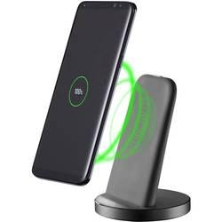 Bezdrátová indukční nabíječka Cellularline WIRELESSTANDTYCK, Qi standard, černá