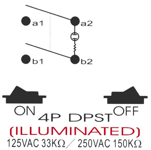 Drucktaster 250 V/AC 10 A 2 x Aus/Ein SCI R13-537A B/R/G rastend 1 St.
