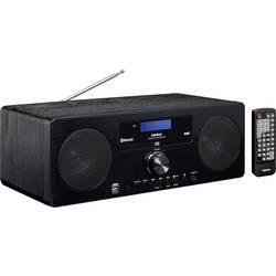 FM stolné rádio Lenco DAR-060, AUX, Bluetooth, CD, čierna
