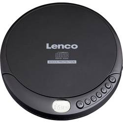 Prenosný CD prehrávač - diskman Lenco CD-200, CD, CD-RW, MP3, s USB nabíjačkou, čierna