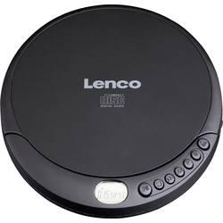 Přenosný CD přehrávač Discman Lenco CD-010, CD, CD-RW, CD-R, s USB nabíječkou, černá