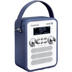 DAB+ vreckové rádio Lenco PDR-050BU, AUX, Bluetooth, modrá