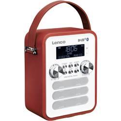 DAB+ vreckové rádio Lenco PDR-050RD, AUX, Bluetooth, červená