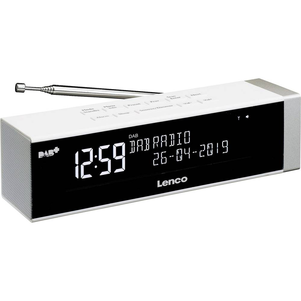 Lenco CR-630WH Wekkerradio DAB+, FM USB Accu laadfunctie Wit