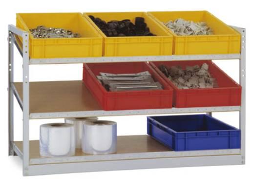 Manuflex RP2099.7035 Schrägbodenregal (B x H x T) 1220 x 790 x 610 mm Stahl pulverbeschichtet Licht-Grau Holzboden