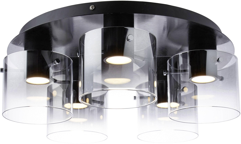 Brilliant Deckenleuchte SchwarzRauch G7559593 LED Weiß Beth Warm 30 W 4Rqj3A5L