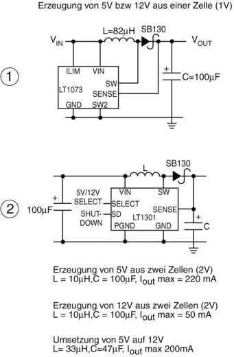Spannungsregler - DC/DC-Schaltregler Linear Technology LT1301 PDIP-8 Positiv Programmierbar 750 mA