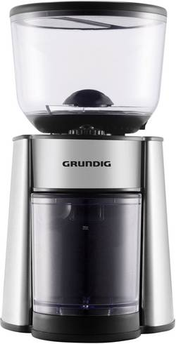 Image of Grundig CM 6760 GMS2060 Kaffeemühle Edelstahl, Schwarz Edelstahl-Scheibenmahlwerk