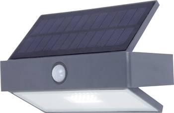 Typischer Aufbau einer Solarlampe mit Sonnen-Kollektor oben und LED-Licht unten