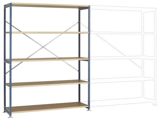 Fachbodenregal-Grundmodul (B x H x T) 1470 x 2000 x 500 mm Stahl pulverbeschichtet Brillant-Blau Holzboden Manuflex RP10