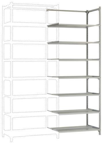 Manuflex Archiv-Doppel-Steckregal Anbauausführung mit 7 Fachbodenebenen Verzinkt (B x H x T) 900 x 2600 x 600 mm