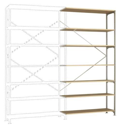 Fachbodenregal-Anbaumodul (B x H x T) 1470 x 3000 x 400 mm Stahl verzinkt Verzinkt Holzboden Manuflex RM2641
