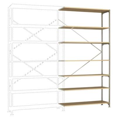 Fachbodenregal-Anbaumodul (B x H x T) 1470 x 3000 x 800 mm Stahl verzinkt Verzinkt Holzbod Preisvergleich