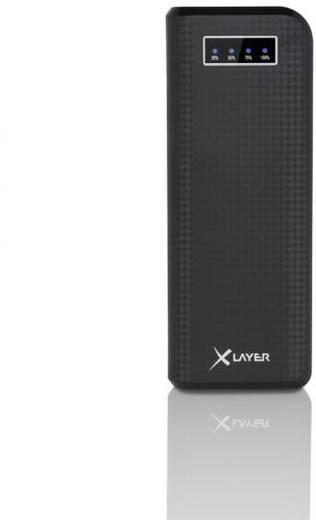 Xlayer ECOLine Carbon Black Powerbank (Zusatzakku) Li-Ion 15000 mAh