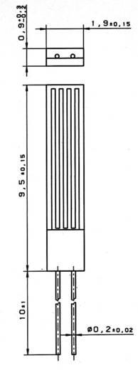 Heraeus M1020 PT100 Temperatursensor -70 bis +500 °C radial bedrahtet