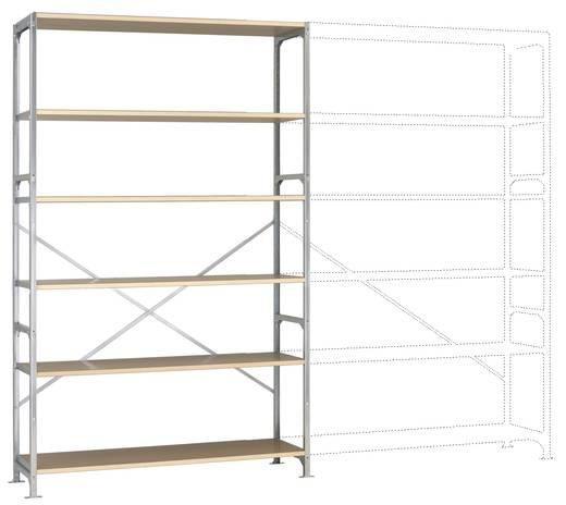 Fachbodenregal-Grundmodul (B x H x T) 1470 x 2500 x 600 mm Stahl verzinkt Verzinkt Holzboden Manuflex RB2563