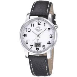 Image of Armbanduhr MTGA-10294-12L (Ø x H) 41 mm x 10.5 mm Silber Gehäusematerial=Metall Material (Armband)=Leder