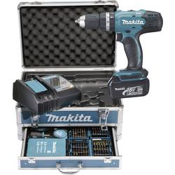Aku príklepová vŕtačka Makita DHP453RFX2, 18 V, 3.0 Ah, Li-Ion akumulátor