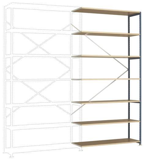 Fachbodenregal-Anbaumodul (B x H x T) 1470 x 3000 x 1000 mm Stahl pulverbeschichtet Licht-Grau Holzboden Manuflex RP1745