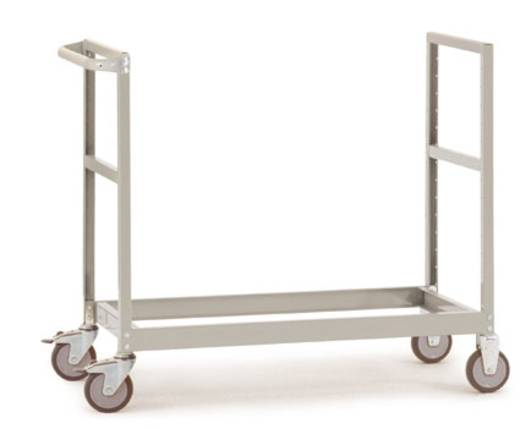 Regalwagen Stahl pulverbeschichtet Traglast (max.): 250 kg Alusilber Manuflex TV3314.9006