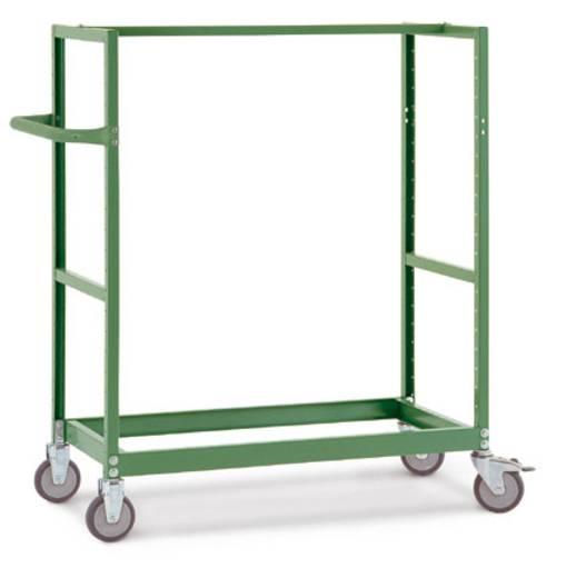 Regalwagen Stahl pulverbeschichtet Traglast (max.): 250 kg Resedagrün Manuflex TV3340.6011