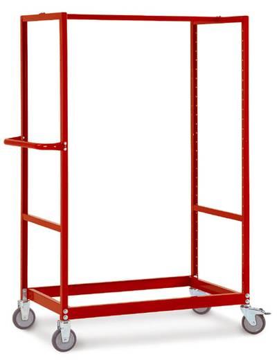 Regalwagen Stahl pulverbeschichtet Traglast (max.): 250 kg Alusilber Manuflex TV3360.9006