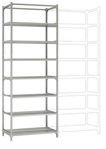 Manuflex Archiv-Doppel-Steckregal Grundausführung mit 7 Fachbodenebenen Verzinkt (B x H x T) 900 x 2600 x 600 mm