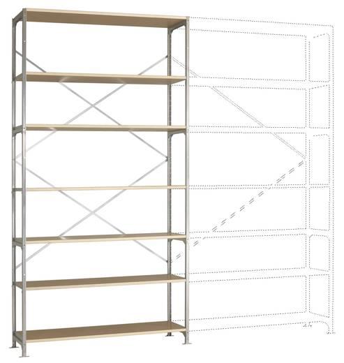 Fachbodenregal-Grundmodul (B x H x T) 1470 x 3000 x 500 mm Stahl verzinkt Verzinkt Holzboden Manuflex RM2622
