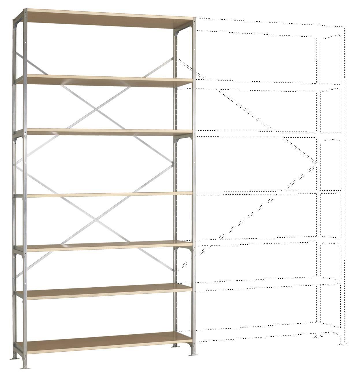 Regal für Wandmontage (Fachbodenregale) aus Stahl in Weiß
