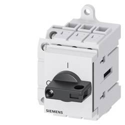 Odpínač čierna 3-pólové 16 mm² 63 A 1 spínací, 1 rozpínací 690 V/AC Siemens 3LD34301TK11