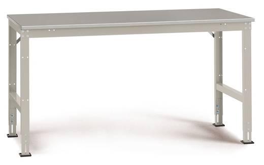 Manuflex AU4044.0001 Arbeitstisch UNIVERSAL, Grund 1500x 600x760 mm,Pl.Blechbelag KRIEG Hausfarbe graugrün