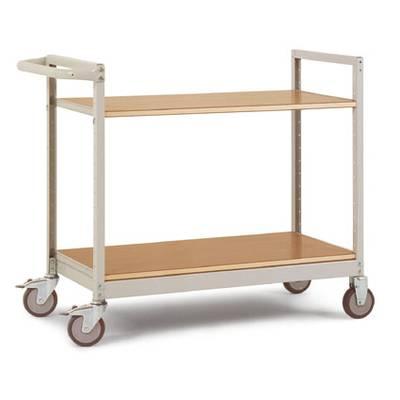 Regalwagen Stahl pulverbeschichtet Traglast (max.): 250 kg Alusilber Manuflex TV1020.9006 Preisvergleich